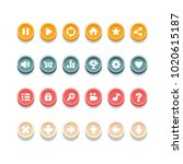 vector set of game buttons for...