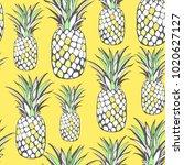 vector. seamless tropical... | Shutterstock .eps vector #1020627127