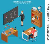 chemical classroom. school... | Shutterstock .eps vector #1020641677
