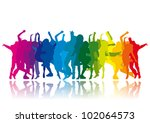 rainbow party | Shutterstock .eps vector #102064573