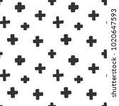 minimal vector seamless pattern ... | Shutterstock .eps vector #1020647593