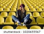 lifestyle image. beautiful girl ...   Shutterstock . vector #1020655567
