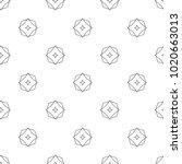 seamless ornamental vector... | Shutterstock .eps vector #1020663013