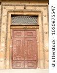 door of old building in saint... | Shutterstock . vector #1020675547