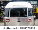 Small photo of Kuala Lumpur, Malaysia - September 25th, 2016 : Airstream cafe was parked in front of the motorcycle garage in Ampang, Kuala Lumpur.
