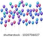 balloons group isolated vector... | Shutterstock .eps vector #1020706027