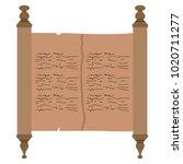 traditional torah image | Shutterstock .eps vector #1020711277