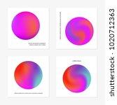 abstract gradient in the sphere ... | Shutterstock .eps vector #1020712363