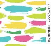 hand drawn dry brush strokes... | Shutterstock .eps vector #1020717547