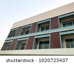 the modern commercial building. | Shutterstock . vector #1020725437