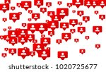follow icon. notifications with ... | Shutterstock .eps vector #1020725677