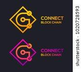 letter g colorful dots logo... | Shutterstock .eps vector #1020728593