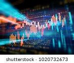 financial stock market graph on ... | Shutterstock . vector #1020732673