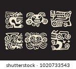tipical recuay  pre columbian... | Shutterstock .eps vector #1020733543