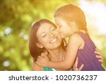happy mother and daughter... | Shutterstock . vector #1020736237