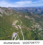 panoramic aerial view on road... | Shutterstock . vector #1020739777