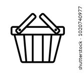 shoping cart outline icon