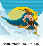 hermes mercury greek mythology... | Shutterstock .eps vector #1020748087