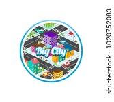 big city isometric real estate...   Shutterstock .eps vector #1020752083