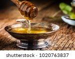 honey. honey and honey dipper... | Shutterstock . vector #1020763837