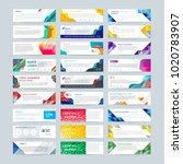 vector set of abstract design... | Shutterstock .eps vector #1020783907