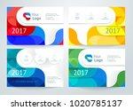 vector set of abstract design... | Shutterstock .eps vector #1020785137