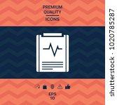 electrocardiogram symbol icon   Shutterstock .eps vector #1020785287