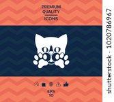 cute cat  paws   logo  symbol ... | Shutterstock .eps vector #1020786967