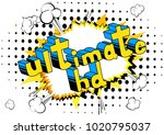 ultimate hd   comic book style...   Shutterstock .eps vector #1020795037