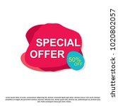 special offer creative banner... | Shutterstock . vector #1020802057