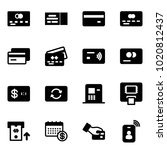 solid vector icon set   credit... | Shutterstock .eps vector #1020812437
