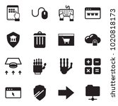 solid black vector icon set  ... | Shutterstock .eps vector #1020818173