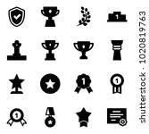 solid vector icon set   shield... | Shutterstock .eps vector #1020819763