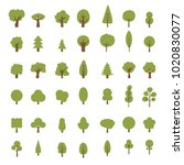 vector tree icon style flat... | Shutterstock .eps vector #1020830077