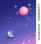 space world illustration | Shutterstock .eps vector #1020830377