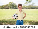 young little kid 7 or 8 years... | Shutterstock . vector #1020831223
