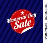 memorial day sale illustration | Shutterstock .eps vector #1020833203
