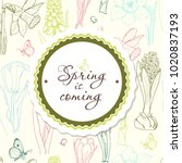 background for spring season...   Shutterstock .eps vector #1020837193