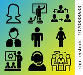 people vector icon set... | Shutterstock .eps vector #1020838633