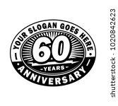 60 years anniversary.... | Shutterstock .eps vector #1020842623