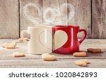 a cup love. selective focus.   | Shutterstock . vector #1020842893