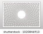 template for cutting. mandala ... | Shutterstock .eps vector #1020846913