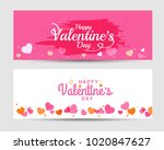 illustration of valentines day... | Shutterstock .eps vector #1020847627