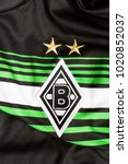 Small photo of ZAGREB, CROATIA - FEBRUARY 09, 2018. - German football club Borussia Moenchengladbach emblem on jersey.