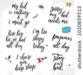 set of vector quotes about... | Shutterstock .eps vector #1020859513