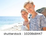 portrait of mother and son...   Shutterstock . vector #1020868447