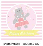 happy birthday card design.... | Shutterstock .eps vector #1020869137