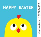 happy easter sign symbol.... | Shutterstock .eps vector #1020876157