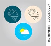 vector set of weather icons.... | Shutterstock .eps vector #1020877207