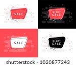 set of trendy flat vector... | Shutterstock .eps vector #1020877243